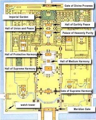 Map Of Forbidden City Mybeijingchina Com